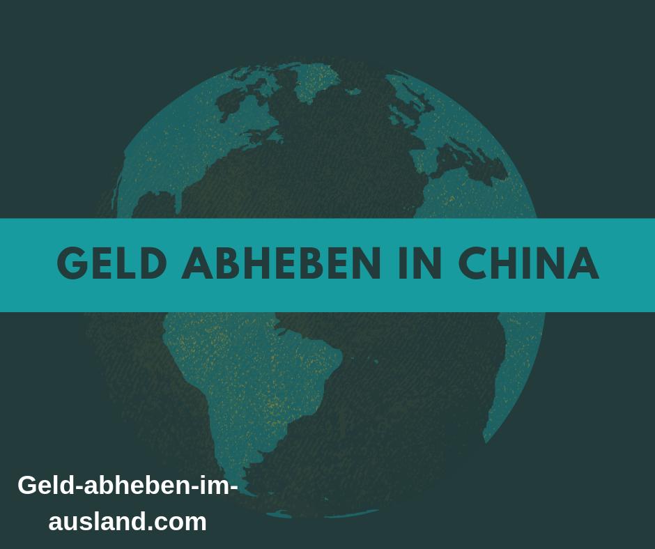 Geld abheben in china bild
